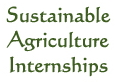 Sustainable Agriculture Internships